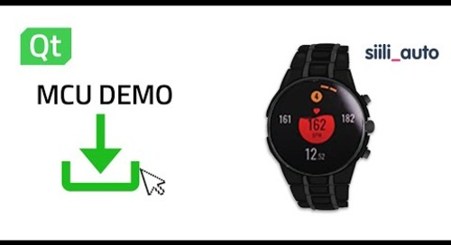 Qt for MCUs - Wearable smartwatch demo by Siili Auto - NXP Microcontroller