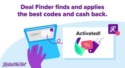 Save with RetailMeNot Deal Finder