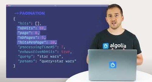 Algolia Build 101 - Search API Response