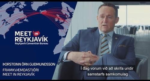 Þorsteinn Örn Guðmundsson framkvæmdastjóri Meet in Reykjavík fjallar um samstarf við HÍ, HR og LHÍ