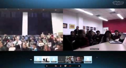 Panda Award Winning Authors Skype with Students in Bejing