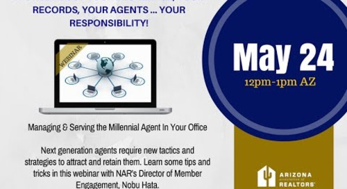 Managing & Serving the Millennial Agent 5.24.2016