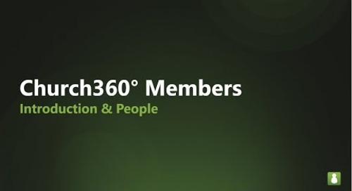Church360° Members    Introduction & People