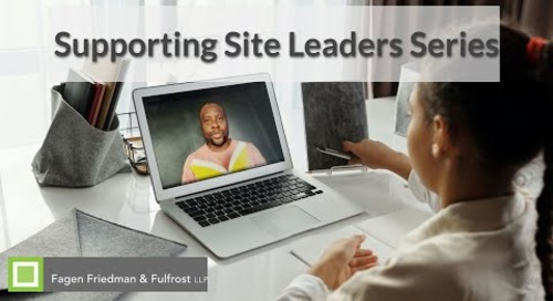 Supporting Site Leaders Series - Legal Clarity