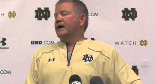 Notre Dame's Brian Kelly — 8/9/14