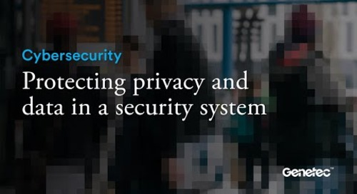 Cybersecurity - Privacy and data protection