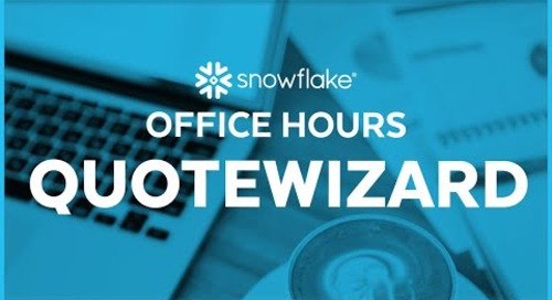 Snowflake Office Hours: QuoteWizard