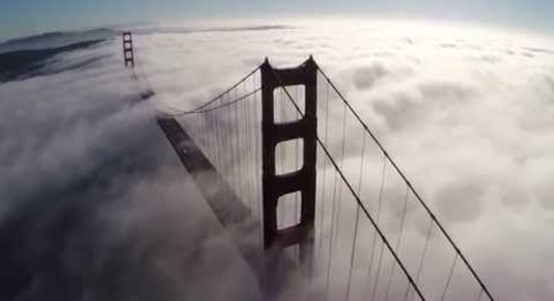 Golden Gate Bridge with Awesome San Francisco Fog - Quadcopter Aerial Views