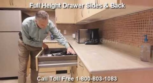 Modular Millwork Self Closing Drawers | Full Extension Soft Closing Drawer Slides Casework Cabinets