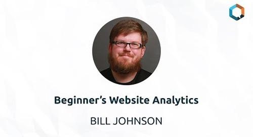 Beginner's Website Analytics