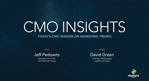 CMO Insights: David Green, Director of Marketing for LeadCrunch