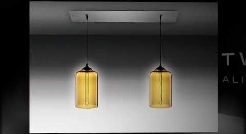 Linear 2 Modern Chandelier by Niche Modern