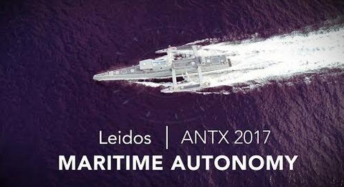 Leidos demonstrates maritime autonomy at ANTX 2017