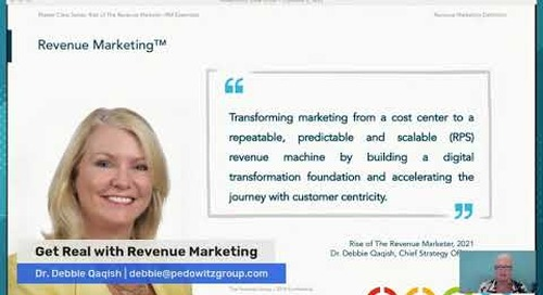 Get Real with Revenue Marketing - The characteristics of Revenue Marketing