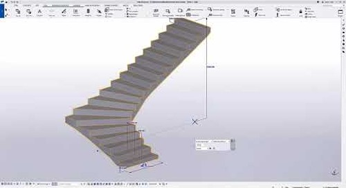 New Way of Modeling Concrete Stairs in Tekla Structures 2021