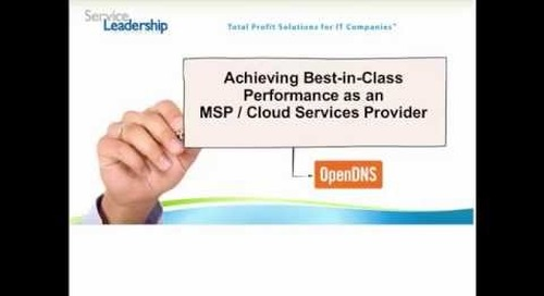 Achieving Best-in-Class Performance as a Managed and Cloud Services Solutions Provider