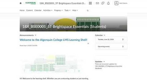 Brightspace Essentials Course for Students