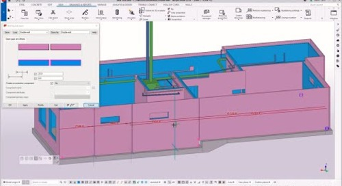 Tekla Structures for double walls (French version)