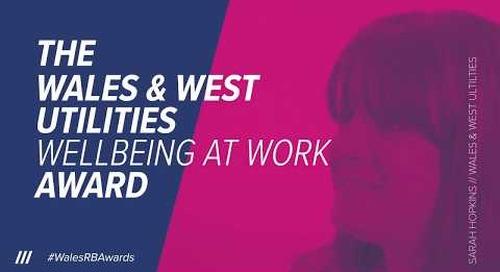 Bluestone National Park Resort win The Wales & West Utilities Wellbeing at Work Award 2018