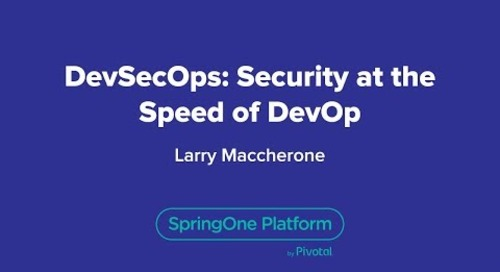 DevSecOps: Security at the Speed of DevOps