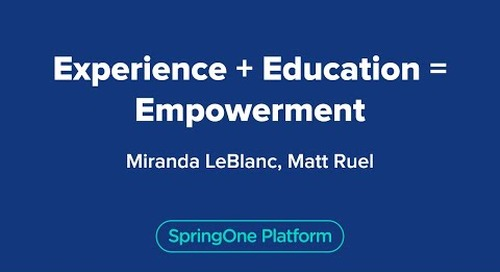 Experience + Education = Empowerment