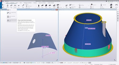 Stand Alone Bent Plate in Tekla Structures