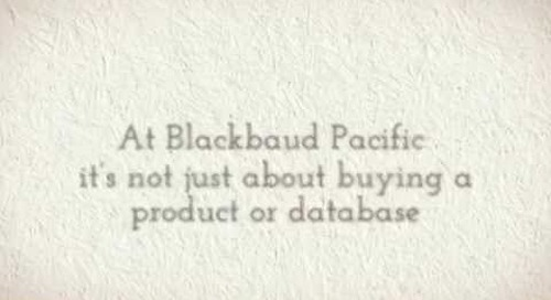 Becoming part of the Blackbaud Pacific family
