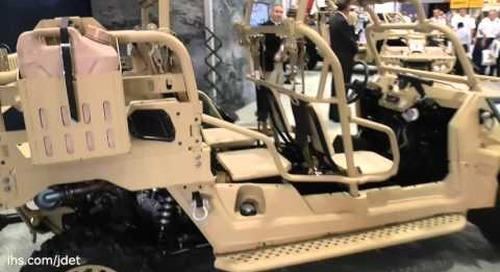 AUSA 2015: Polaris Defense on their MRZR ultra-light all -terrain vehicle