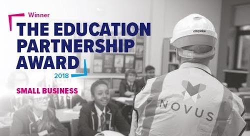 Novus Property Solutions win the Education Partnership Award,  small company