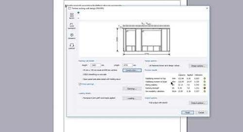 Timber frame racking panel design (EN1995)