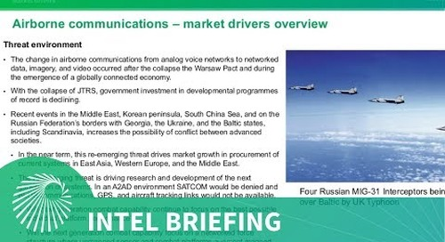 Intel Briefing: Airborne Communications - Integrating platforms into networks