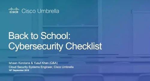 Back to school cybersecurity checklist