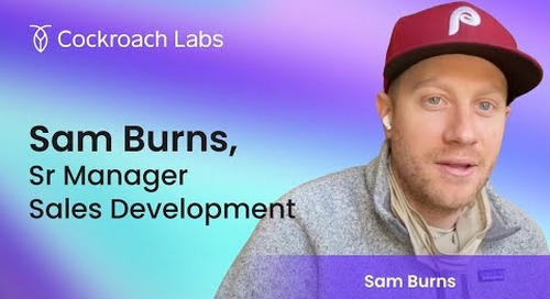 Roacher of the Week: Sam Burns, Senior Manager of Sales Development