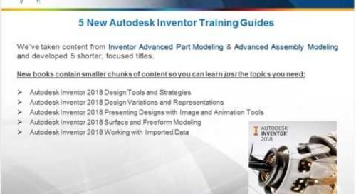 Autodesk 2018 Courseware Updates & More