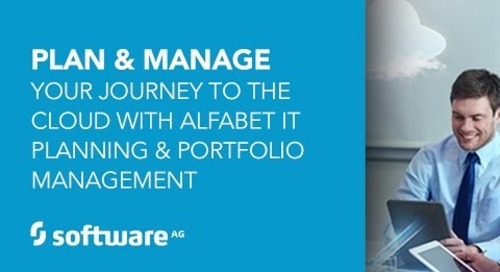 Plan and Manage Your Journey to the Cloud with Alfabet IT Planning and Portfolio Management
