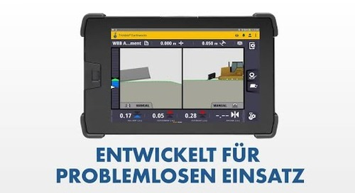 Trimble Earthworks for Dozers: UI/UX - German