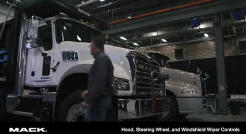 Hood, Steering Wheel and Windshield wiper Controls (Spanish)