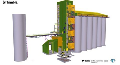 Tekla France BIM Awards 2018 - CMF STRUCTURES : Limagrain-Silo