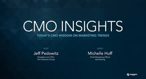 CMO Insights: Michelle Huff, CMO, UserTesting