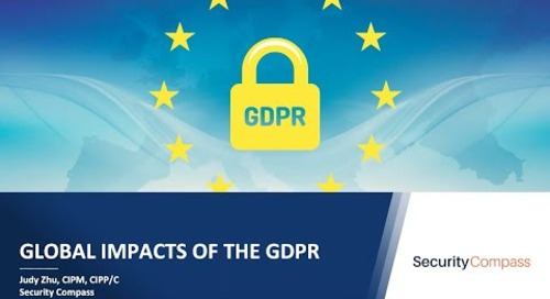 Global Impacts of the GDPR