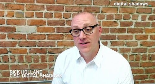 ISO27001 certification - Interview with CISO Rick Holland of Digital Shadows
