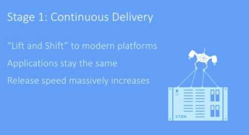 The Journey to becoming cloud-native:  A three step path to modernizing apps — Alois Reitbauer