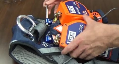How to install the 3M™ DBI-SALA® Nano-Lok™ Twin-Leg Self-Retracting Lifeline