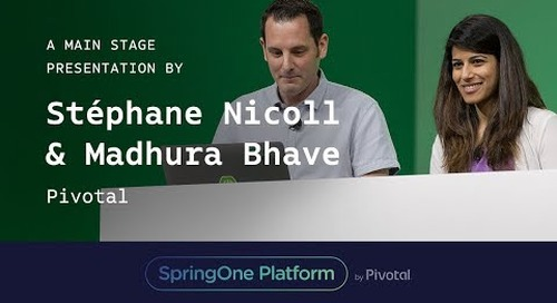 Stéphane Nicoll and Madhura Bhave, Pivotal at SpringOne Platform 2017