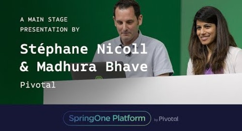 Stéphane Nicoll and Madhura Bhave, Pivotal at SpringOne Platform 2017