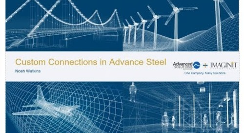 AEC Custom Connections in Advance Steel