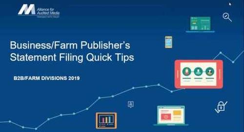 B2B and Farm Media Publisher's Statement Filing Tips & Tricks [webinar]