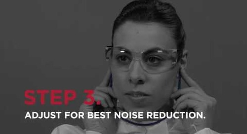 How to use banded ear plugs.