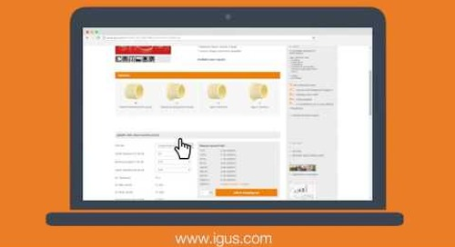 How to Use the igus® Bearing Product Selector