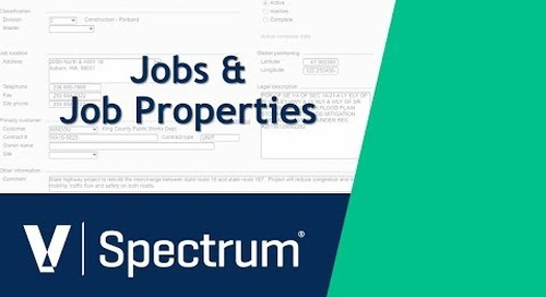 Spectrum Jobs and Job Properties